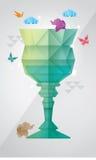 Glass design för prisma stock illustrationer