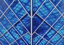 Glass design. The glass structure over our heads Stock Photography