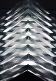 Glass. Detail of a table lamp made of glass sheets stacked together Royalty Free Stock Images