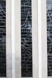 Glass detalj av den helgonMicheal katolska kyrkan arkivbilder