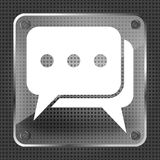 Glass dialog icon Stock Photography