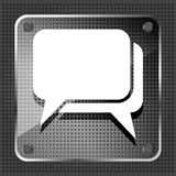 Glass dialog icon Royalty Free Stock Photos