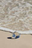 Glass Diamond on the beach Stock Photography