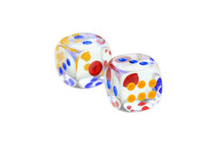 Glass dice Stock Photos
