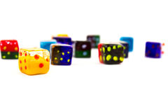 Glass Dices Royalty Free Stock Image