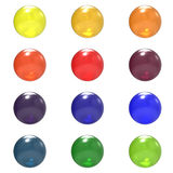 Glass different color balls group Royalty Free Stock Photo
