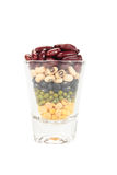 The glass of different legumes Stock Photo