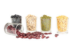 The glass of different legumes Stock Photography