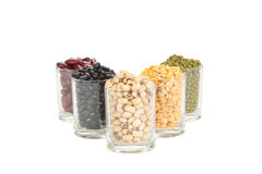 The glass of different legumes Stock Images