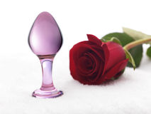 Glass and Rose Royalty Free Stock Photos