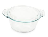 Glass dish for mini oven Stock Photography