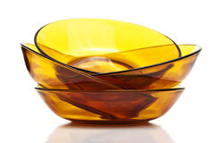 Glass Dishes Stacked Royalty Free Stock Photography