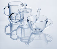 Glass dishes for tea Royalty Free Stock Photo