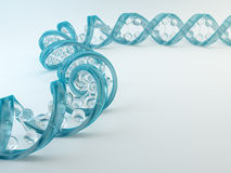 A glass DNA strand. Genetics concept Stock Image