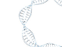 Glass DNAmodell Arkivbilder
