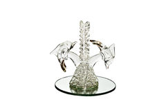 Glass dolphin Stock Images