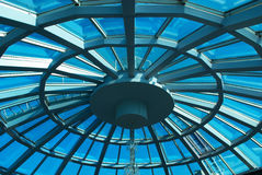 Glass dome. Detail of modern building stock photography