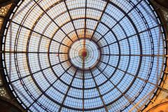 Glass dome of Galleria in Milan, Italy Royalty Free Stock Photography