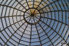 The Glass dome of the Galleria Umberto I in Naples, Italy. Beautiful Regular Structure of the Glass dome of the Galleria Umberto I in Naples, Italy royalty free stock photos