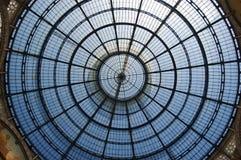 Glass Dome of Galleria Vittorio Emanuele II Stock Photos