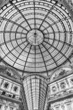 Glass dome of the Galleria Vittorio Emanuele II, Milan, Italy. MILAN - SEPTEMBER 11: Glass dome of the Galleria Vittorio Emanuele II, iconic shopping center and Stock Photography