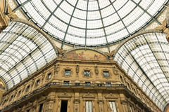Glass dome of Galleria Vittorio Emanuele in Milan Stock Photo