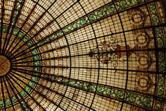 Glass Dome. The Glass Dome of the Gran Hotel Bolivar in Lima, Peru stock photo