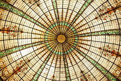 Glass Dome. The Glass Dome of the Gran Hotel Bolivar in Lima, Peru stock images