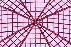 Glass dome with metal frame, armature. Graphic toned texture for Background Royalty Free Stock Images