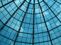 Glass dome of a modern building Stock Photos