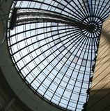 Glass dome. Modern radial glass dome of a modern building Stock Photos