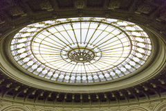 Glass dome. From National House from Bucharest, Romania stock images