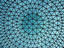 Glass dome of  railway station hall. Detail of modern building Stock Images