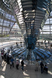 Glass Dome Of The  Reichstag Royalty Free Stock Image
