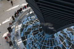 Glass Dome Of The  Reichstag Stock Photography