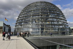 Glass Dome of the Reichstag, Berlin Royalty Free Stock Photos
