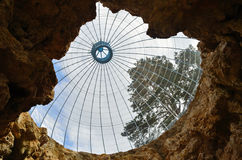 Glass Dome Roof. Grotto Fernery royalty free stock image