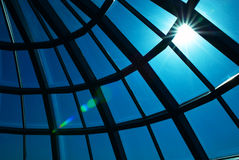 Glass dome and sun Royalty Free Stock Photography