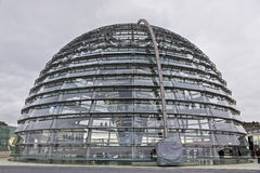 Glass Dome on the top of Reichstag building Stock Photography