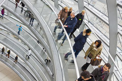 Glass Dome on the top of Reichstag building Royalty Free Stock Photo