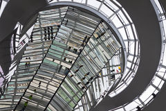 Glass Dome on the top of Reichstag building Stock Images