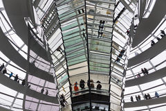 Glass Dome on the top of Reichstag building Royalty Free Stock Image