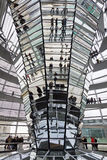 Glass Dome on the top of Reichstag building Stock Photo