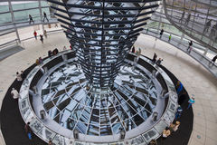 Glass Dome on the top of Reichstag (Bundestag) building Stock Images