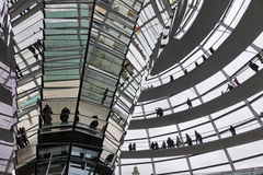 Glass Dome on the top of Reichstag (Bundestag) building Royalty Free Stock Image
