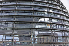 Glass Dome on the top of Reichstag (Bundestag) building Stock Photography