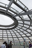 Glass Dome on the top of Reichstag (Bundestag) building Stock Photo