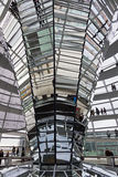 Glass Dome on the top of Reichstag (Bundestag) building Royalty Free Stock Photo