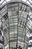 Glass Dome on the top of Reichstag (Bundestag) building Stock Image