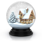 Glass dome winter scene royalty free illustration